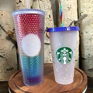Starbucks Rainbow Studded Tumbler & Confetti Cup
